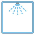 icona doccia dall alto blu